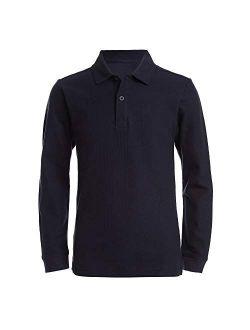 Boys School Uniform Long Sleeve Polo