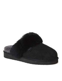 EZ Feet Women's Shearling Scuffs Fluffy Breathable Slip-On Slippers