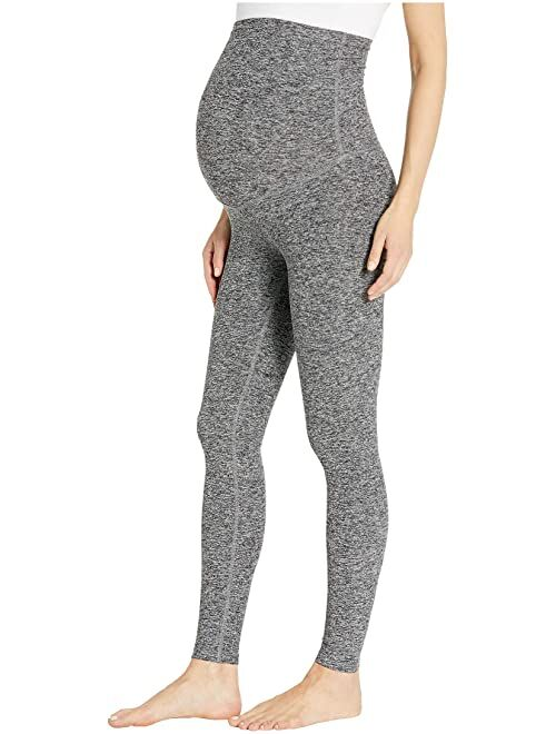 Beyond Yoga Maternity Empire Women's High Waisted Spacedye Midi Leggings