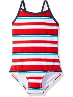 Layla Beach Sport Banded One-Piece Swimsuit (Toddler)