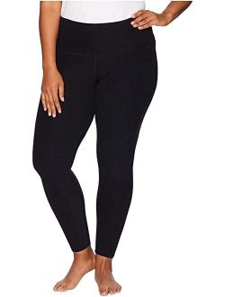 Women's Polyester Plus Size High Waisted Midi Leggings