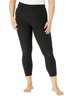 Plus Size Out Of Pocket High Waisted Spacedye Midi Leggings