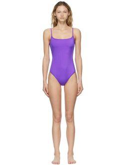 Purple Noodle One-Piece Swimsuit
