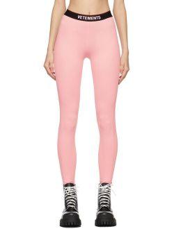 VETEMENTS Pink Logo Leggings
