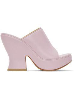 Purple Wedge Heeled Sandals