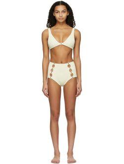Off-White High-Waisted Medusa Bikini