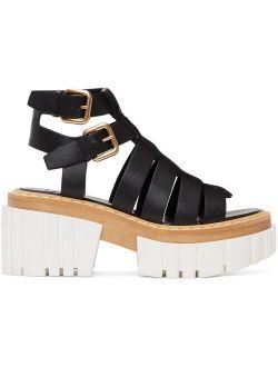 Emilie Gladiator Faux Leather Heeled Sandals