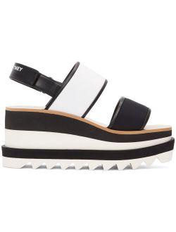 Black & White Sneak Elyse Platform Sandals