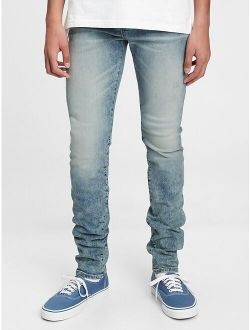 Teen Stacked Ankle Skinny Jeans with Washwell™