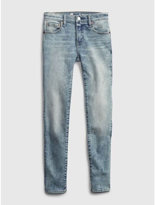 GAP Teen Stacked Ankle Skinny Jeans with Washwell™