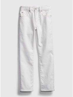 Kids Slim White Jeans with Washwell™