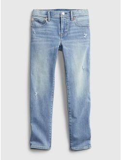 Kids Distressed Slim Jeans with Washwell™