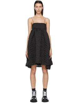 Black Matelassé Lisbeth Dress