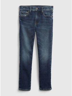 Kids Slim Taper Jeans with Stretch