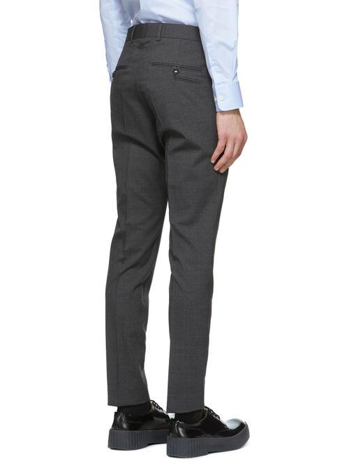 Grey Wool Herris Trousers