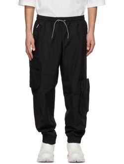 Black Jersey Cargo Pants