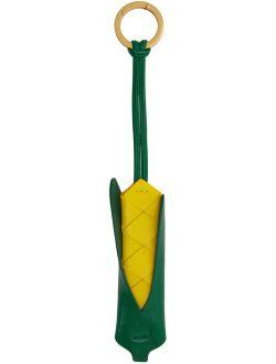 Yellow & Green Intrecciato Corn Keychain