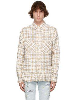 SSENSE Exclusive Beige & Off-White Tweed Oversized Shirt
