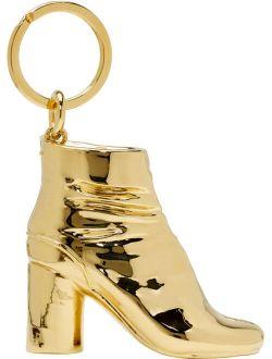 SSENSE Exclusive Gold Tabi Boot Keychain