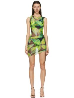 Blue & Green Heatwave Ruched Dress