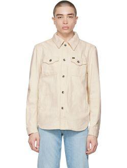 Off-White Denim Get Spread Collar Pocket Shirt