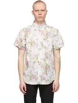 White Flower Painting Easy Short Sleeve Shirt