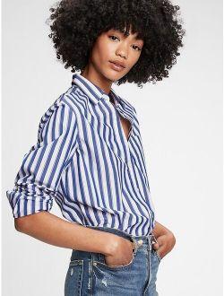 Women's Cotton Striped Long Sleeves Shirt