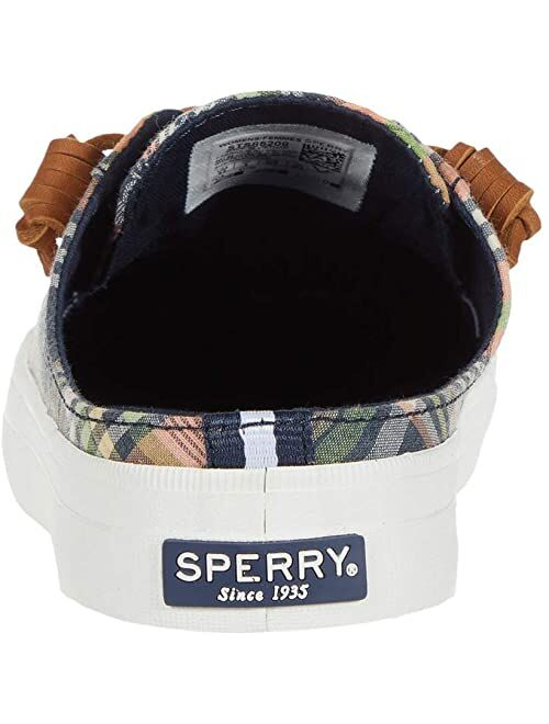 Sperry Crest Vibe Washed Plaid Mule Sneaker