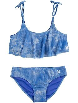 UPF 50+ Bikini Swimsuit Set (Big Kids)