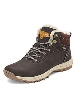 Mens Women Warm Lined Snow Boots Winter Booties Cold Weather Outdoor Hiking Work Shoes