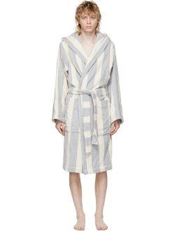 SSENSE Exclusive Beige Striped Terrycloth Bath Robe