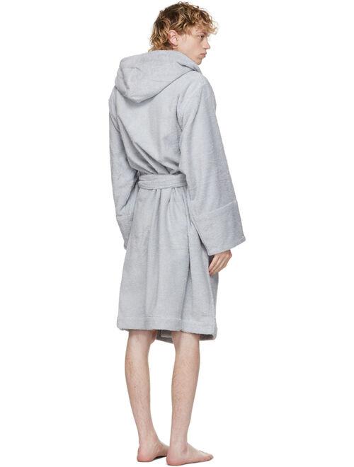 SSENSE Exclusive Grey Terrycloth Bath Robe