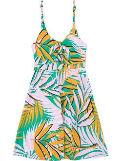 Palm Trees Drizzle Cover-Up Dress (Little Kids/Big Kids)