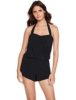 Magicsuit Black Polyester Solid Brooke One-Piece