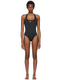 Black & Multicolor Gradient Cut-Out One-Piece Swimsuit
