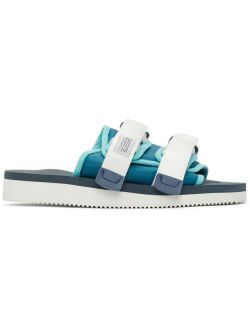 Blue & White MOTO-CAB Sandals