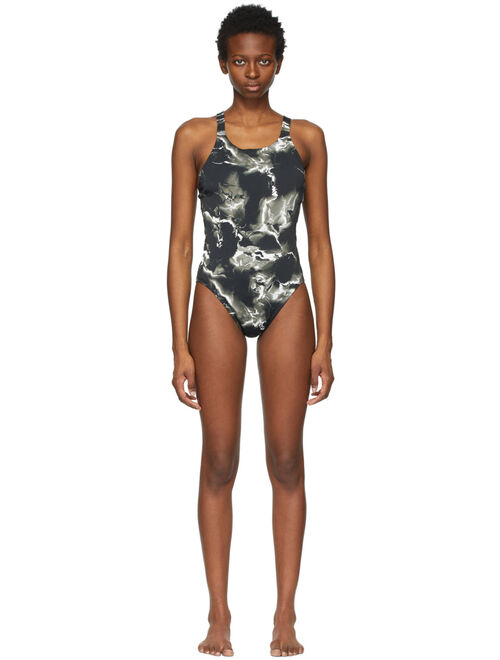 Nike Black HydraStrong Fastback One-Piece Swimsuit