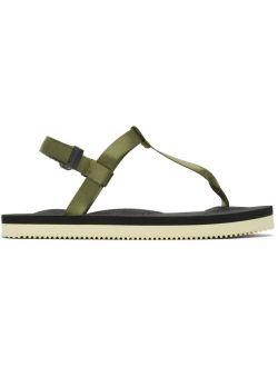 Khaki & Black COKO Hook and Loop Sandals