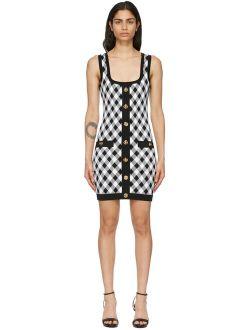 Black & White Gingham Jacquard Dress