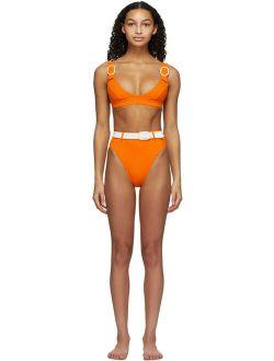 Orange Typhoon Bikini