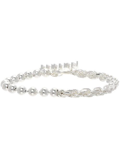 SSENSE Exclusive Silver 2 Link Fused Bracelet