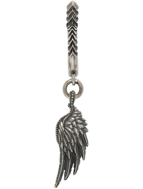 Silver Wing Single Earring