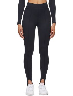 Norba Black Stirrup Sport Leggings