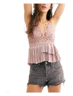 Women's Textured Sweetheart Neck  Adella Camisole