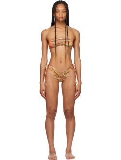 Charlotte Knowles Tan Polyester And Elastane  Bikini