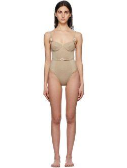 Medina Swimwear Taupe Anemona One-Piece Swimsuit