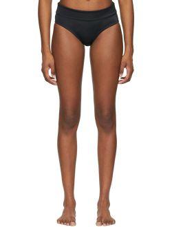 Black Solid Full Bikini Bottoms