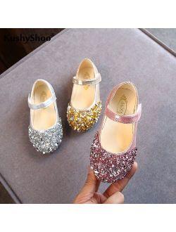 kushyshoo KushyShoo 2020 Spring New Children Shoes Girls Princess Shoes Glitter Children Baby Dance Shoes Casual Toddler Girl Sandals