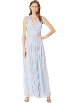 BCBGMAXAZRIA Metallic Tulle Gown
