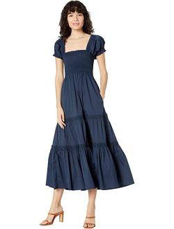 Swimwear Smocked Midi Dress